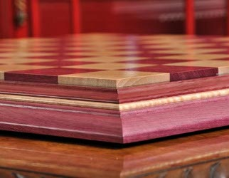 Purpleheart chessboard