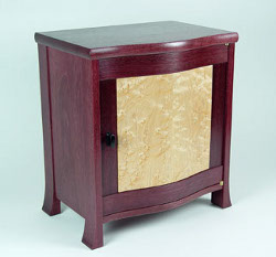 Purpleheart bedside table