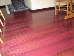 Purpleheart floor