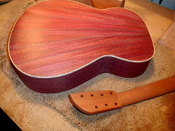 Purpleheart guitar